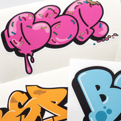 BSP Mixed Graffiti detail shot