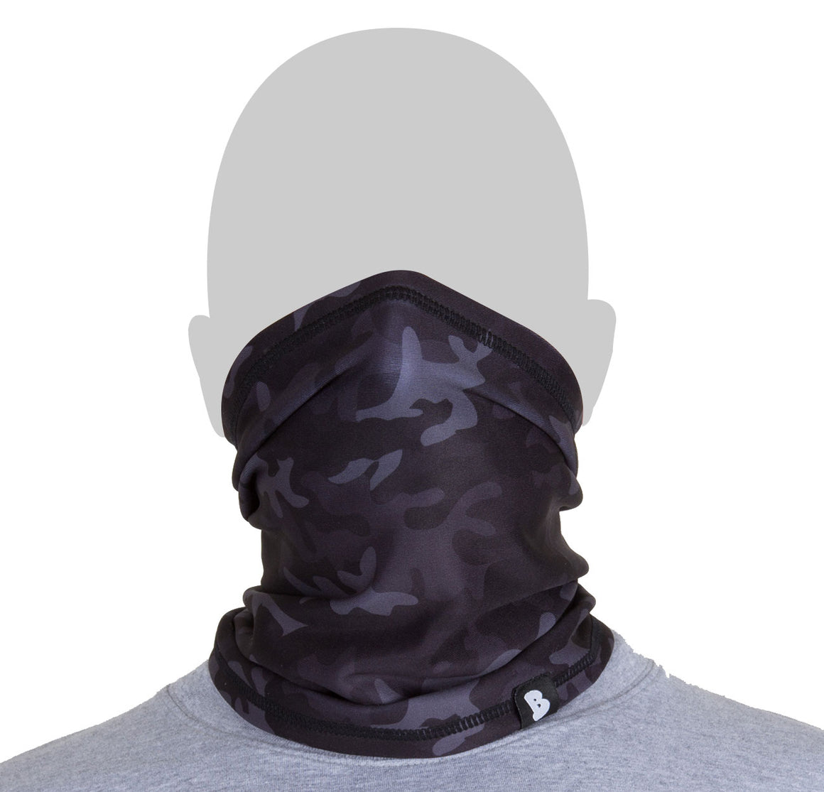 HALF FACE MASK - ARMY BLACK