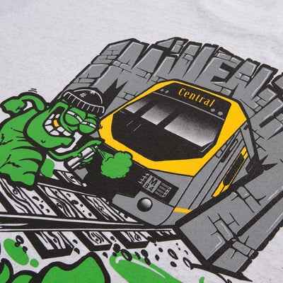 Sydney millennium train tee close up