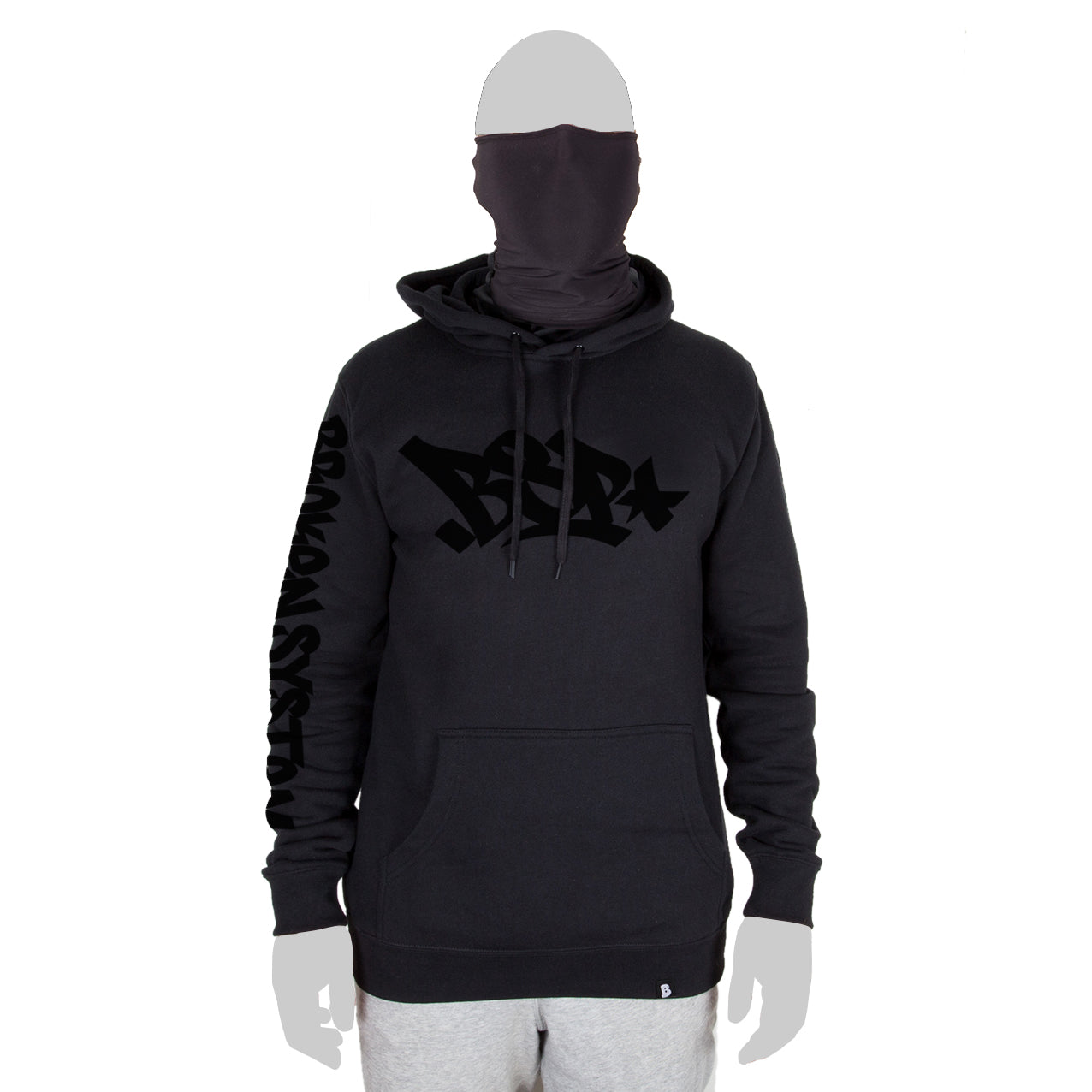 Hoodie with built in face mask