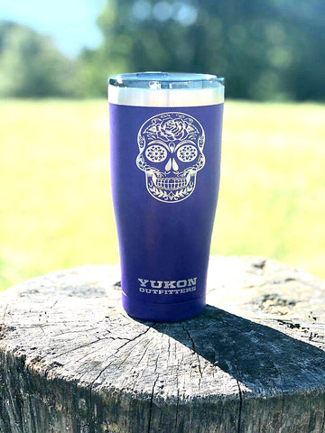 20oz Day of Dead tumbler - Purple
