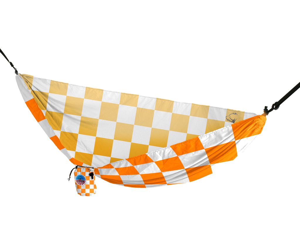 Vista Hammock (Orange and White Checkerboard)