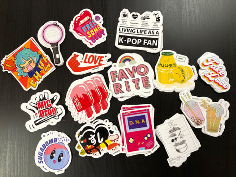 kpop vinyl stickers