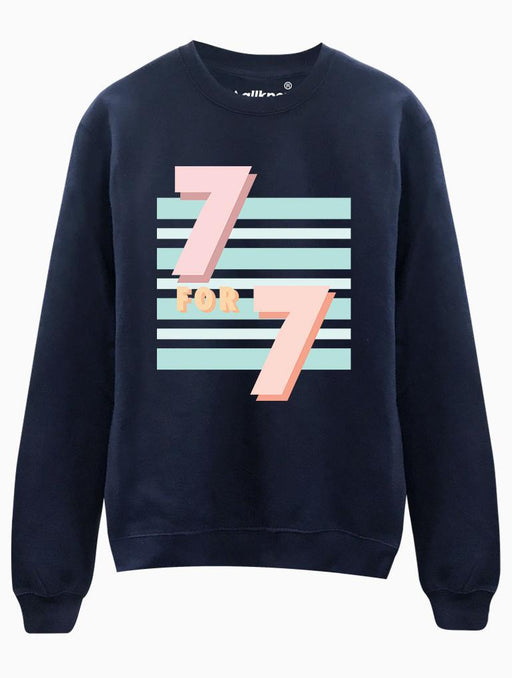 7 for 7 Crew Crews AKP Unisex Navy Small