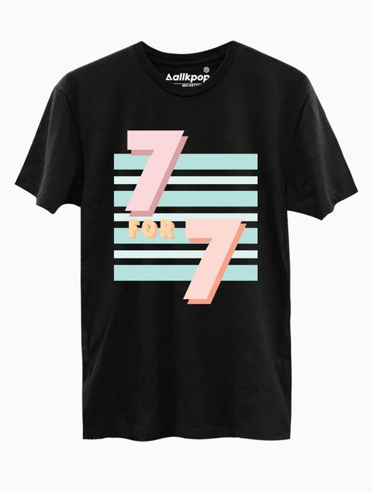 7 for 7 Tee Tees AKP Male Black Small