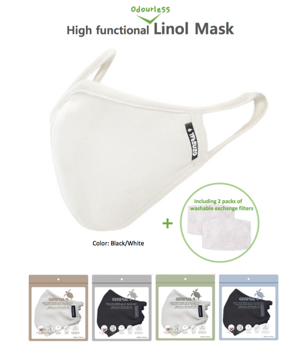 General9 Premium Face Mask + 2 Washable Filters