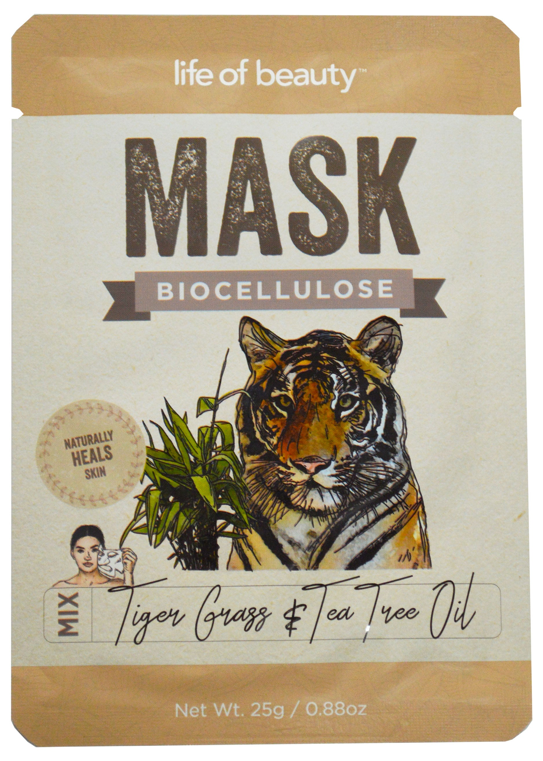 Tiger Grass & Tea Tree Oil Face Mask