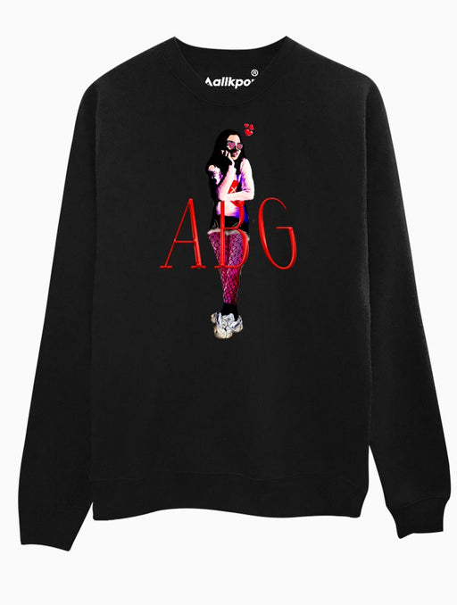 ABG Girl Crew Crews AKP Unisex Black Small