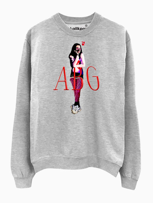 ABG Girl Crew Crews AKP Unisex Grey Small