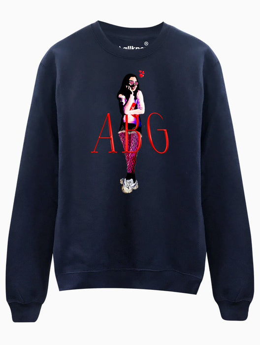 ABG Girl Crew Crews AKP Unisex Navy Small