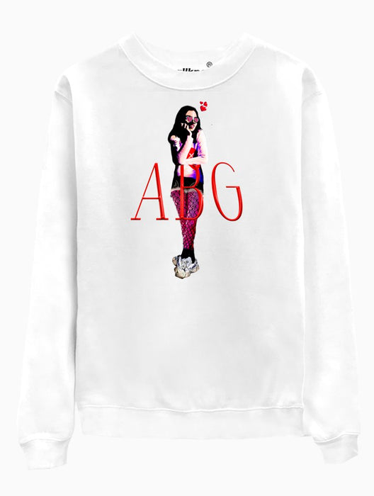ABG Girl Crew Crews AKP Unisex White Small