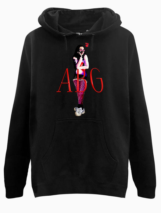 ABG Girl Hoodie Hoodies AKP Unisex Black Small