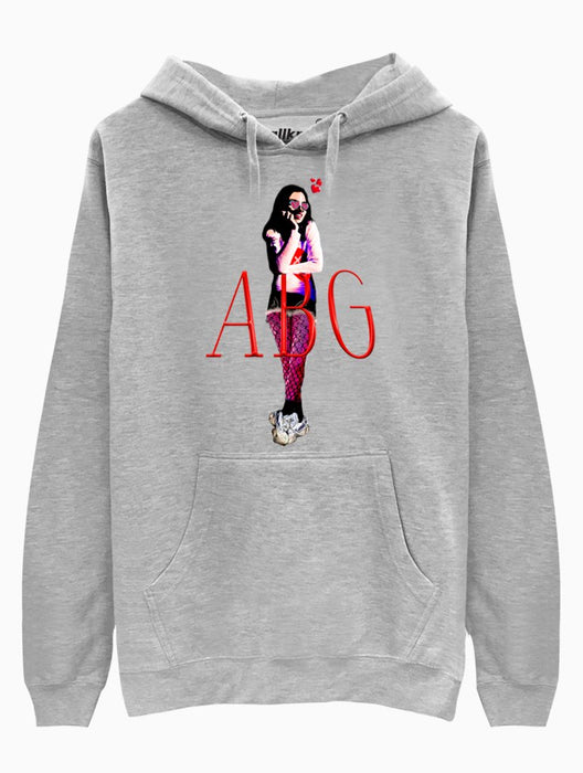 ABG Girl Hoodie Hoodies AKP Unisex Grey Small