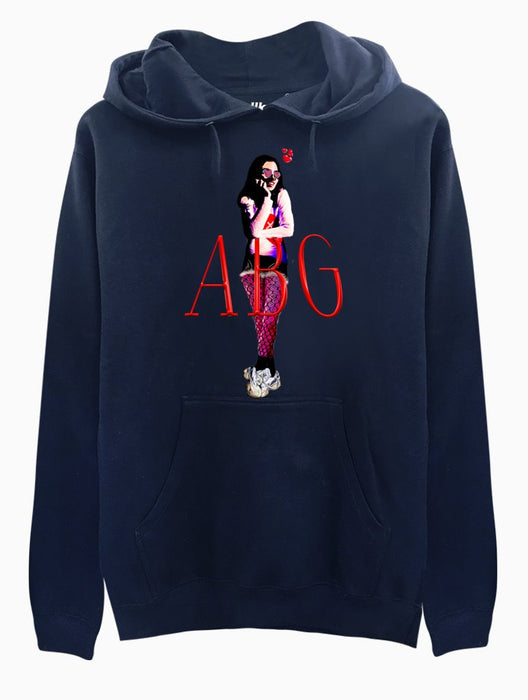 ABG Girl Hoodie Hoodies AKP Unisex Navy Small