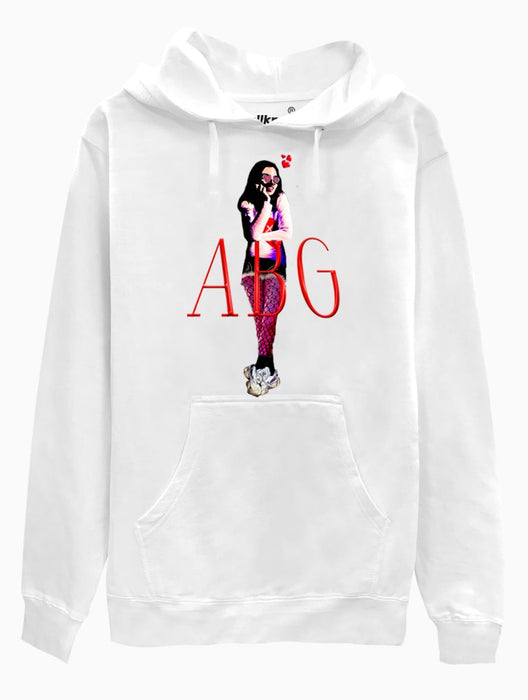 ABG Girl Hoodie Hoodies AKP Unisex White Small