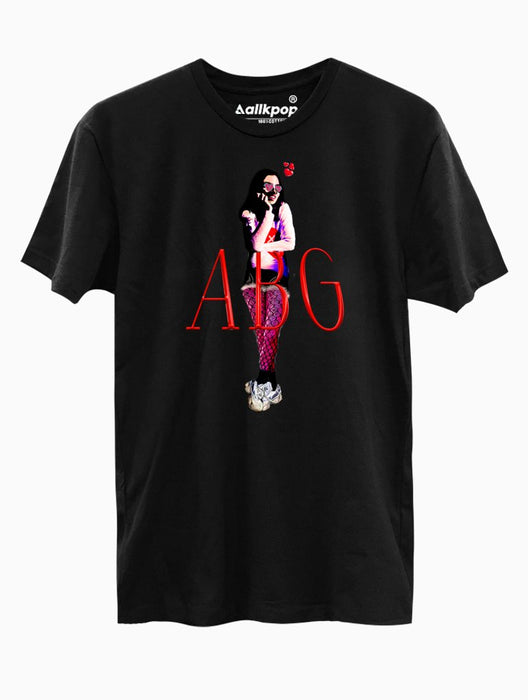 ABG Girl Tee Tees AKP Male Black Small
