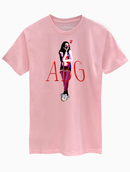 ABG Girl Tee Tees AKP Male Pink Small
