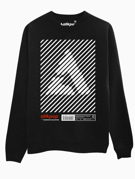 AKP Signature Stripe Crew Crews AKP Unisex Black Small