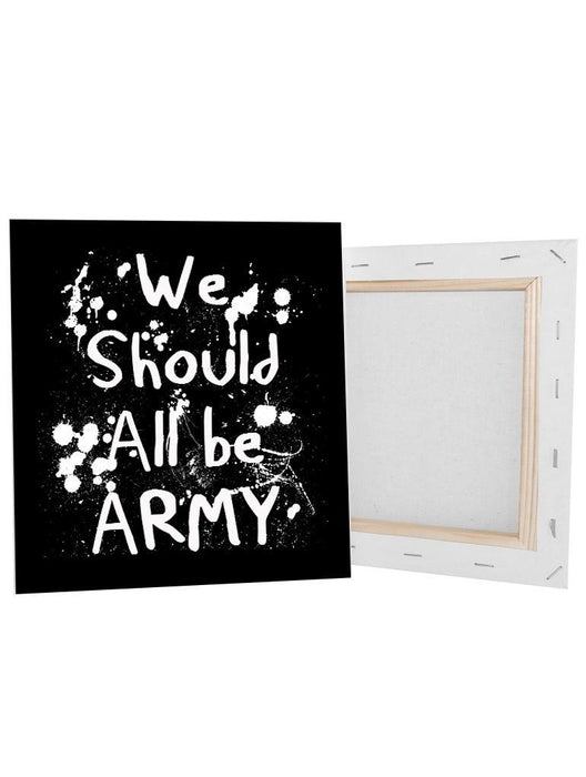 "All Army Canvas Canvas AKP 8x8"" Black"