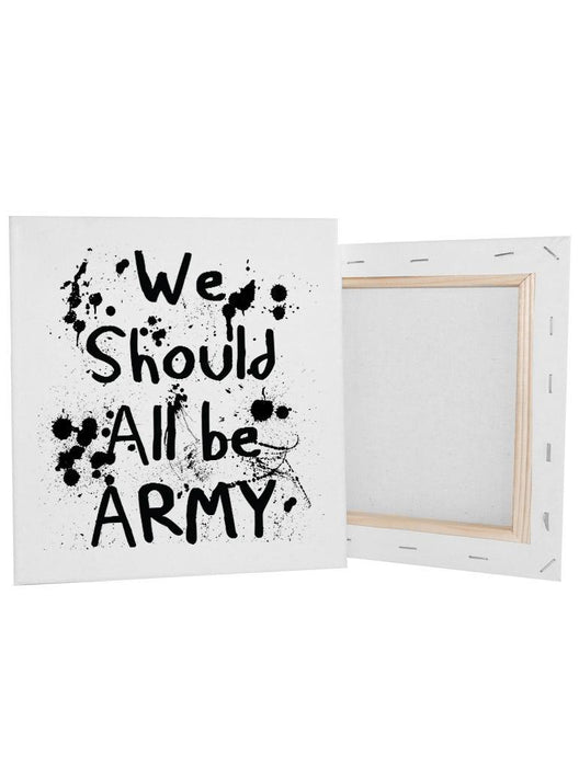 "All Army Canvas Canvas AKP 8x8"" White"