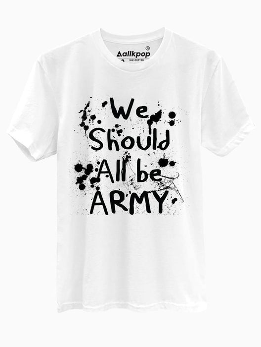 All Army Tee Tees AKP Male White Small