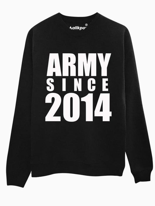 ARMY 2014 Crew Crews AKP Unisex Black Small