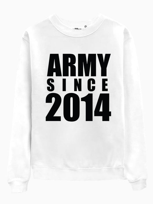 ARMY 2014 Crew Crews AKP Unisex White Small