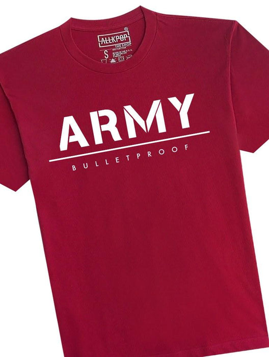 ARMY Bold Tee Tees AKP Male Red Small