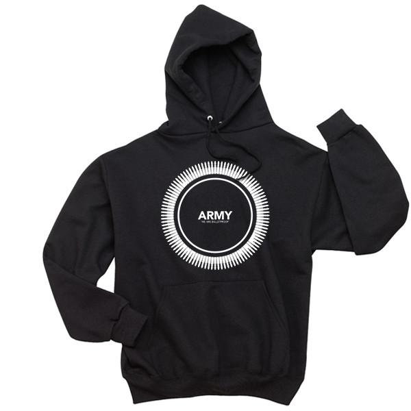 ARMY Bulletproof Hoodie Hoodies AKP Unisex Black Small