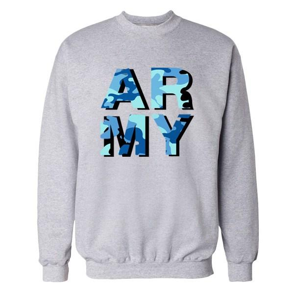 ARMY Camo Crew Crews AKP Unisex Grey Small