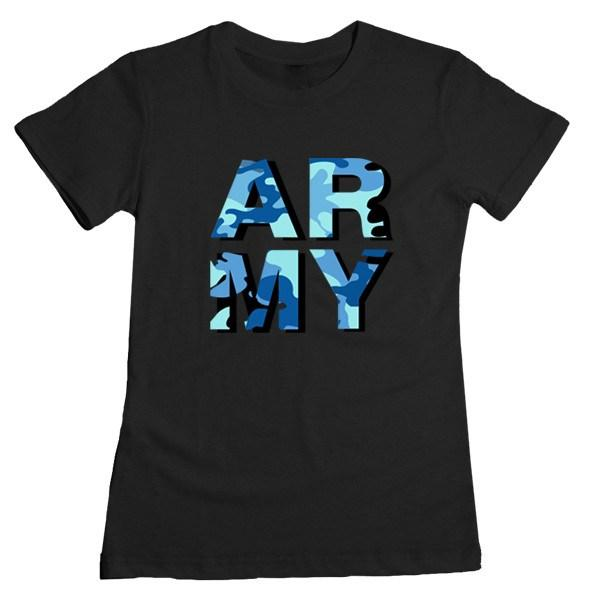 ARMY Camo Tee Tees AKP Female Black Small