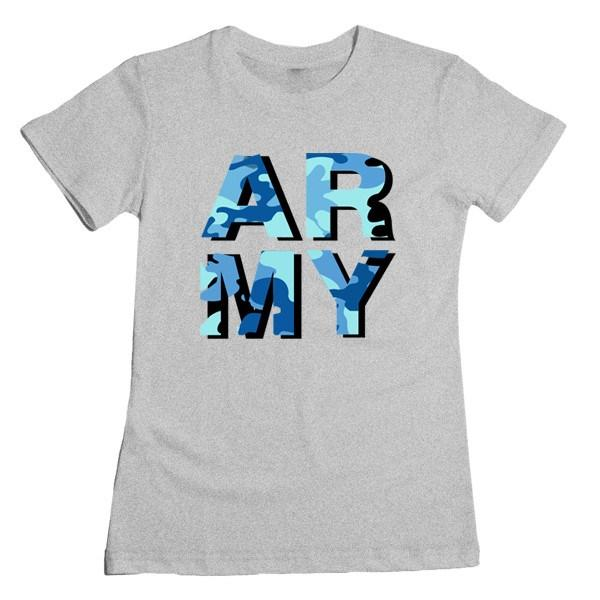 ARMY Camo Tee Tees AKP Female Grey Small