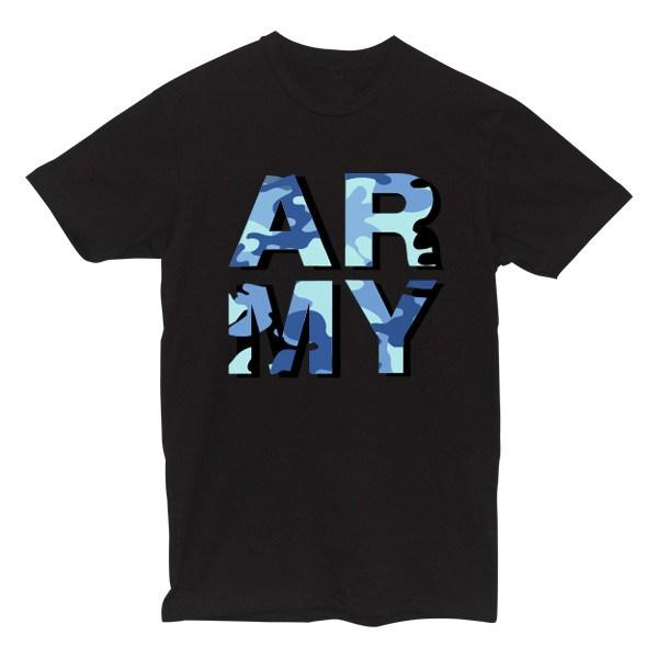 ARMY Camo Tee Tees AKP Male Black Small