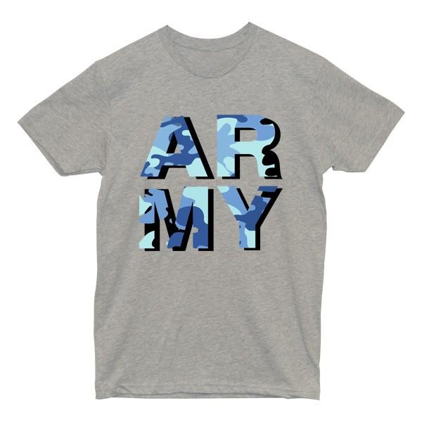 ARMY Camo Tee Tees AKP Male Grey Small