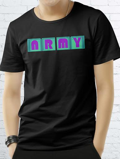 ARMY LUV Tee Tees AKP Male Black Small