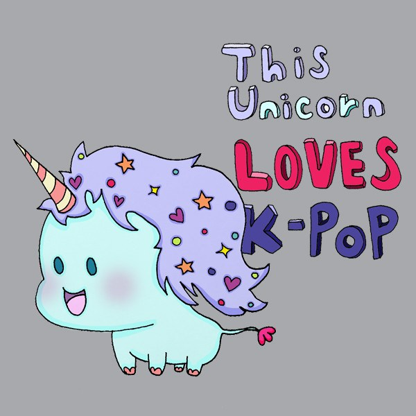 Unicorn Loves K-Pop Hoodie