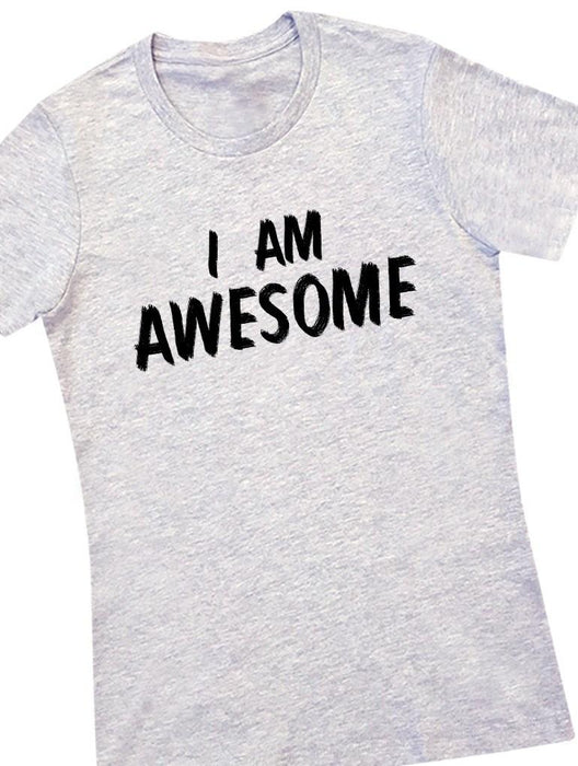 Awesome Tee Tees AKP Female Grey Small