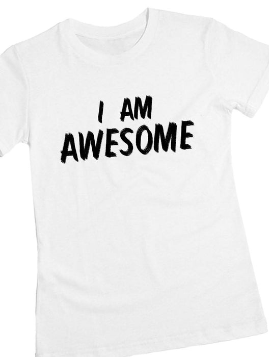 Awesome Tee Tees AKP Female White Small