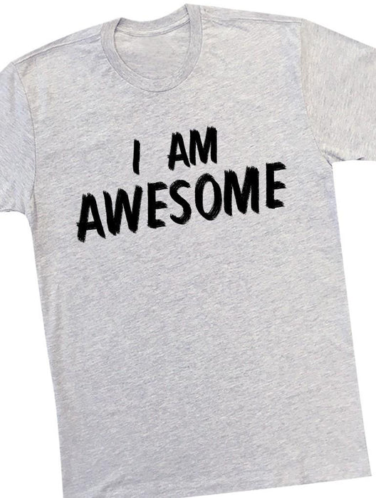 Awesome Tee Tees AKP Male Grey Small