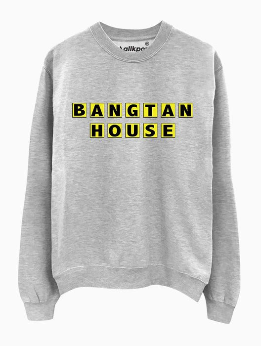 Bangtan House Crew Crews AKP Unisex Grey Small