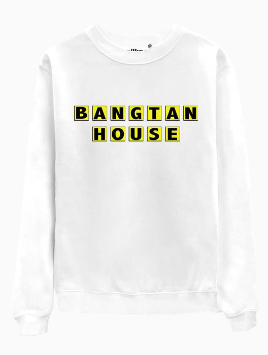 Bangtan House Crew Crews AKP Unisex White Small