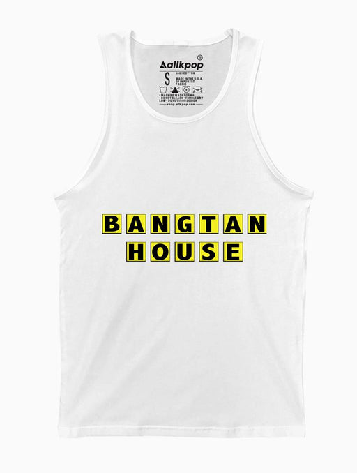 Bangtan House Tank Tanks AKP Unisex White Small