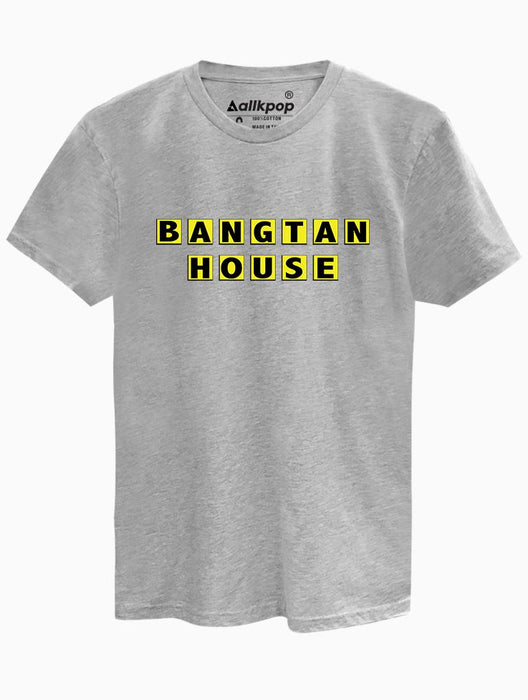 Bangtan House Tee Tees AKP Male Grey Small