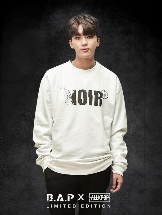 B.A.P Limited Edition NOIR Crew Crews AKP Unisex White Small