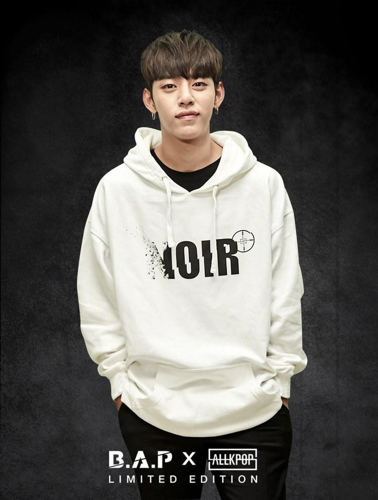 B.A.P Limited Edition NOIR Hoodie Hoodies AKP Unisex White Small