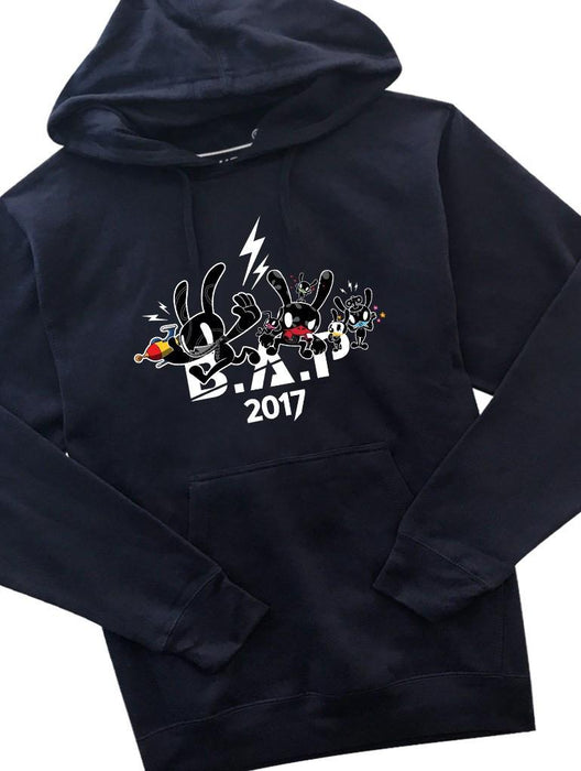B.A.P Party Baby 2017 Hoodie Hoodies AKP Unisex Navy Small