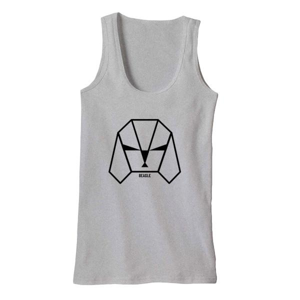 Beagle Tank Tanks AKP Unisex Grey Small