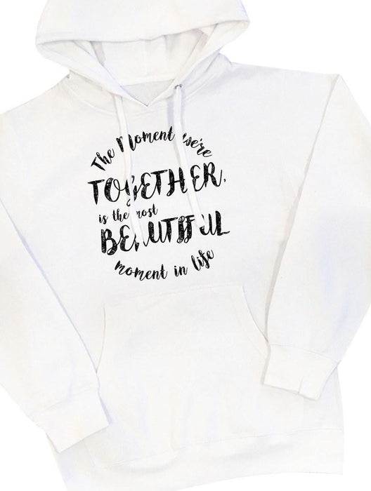 Beautiful Moment Hoodie Hoodies AKP Unisex White Small