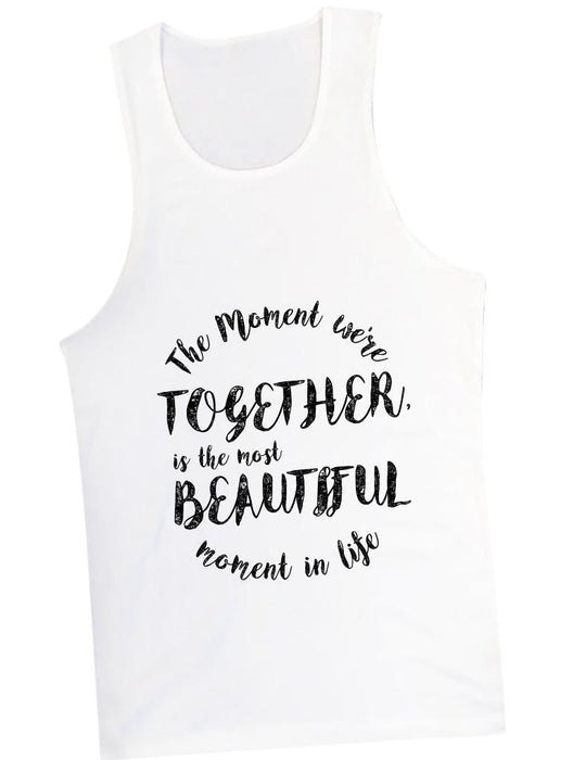 Beautiful Moment Tank Tanks AKP Unisex White Small