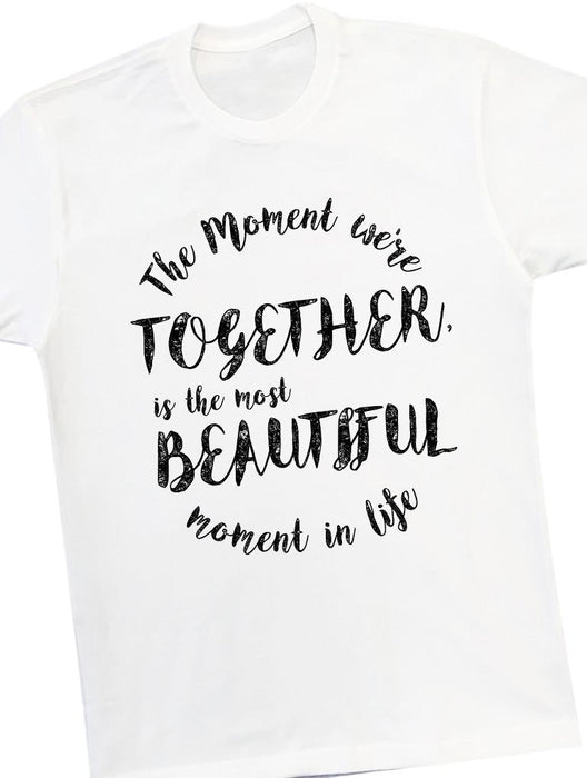 Beautiful Moment Tee Tees AKP Male White Small